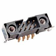 M80-5S21642MQ - 8+8 Pos. Male DIL Horizontal SMT Conn. Jackscrews