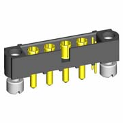 M80-5T10205M3-04-332-00-000 - 2+4 Pos. Male Signal+Power Vertical Throughboard Conn. Jackscrews