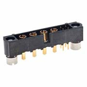 M80-5T10405M2-04-331-00-000 - 4+4 Pos. Male Signal+Power Vertical Throughboard Conn. Jackscrews