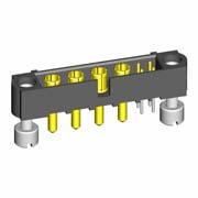 M80-5T10422M3-04-332-00-000 - 4+4 Pos. Male Signal+Power Vertical Throughboard Conn. Jackscrews