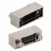 M80-5T10642B1 - 3+3 Pos. Male DIL Vertical Throughboard Conn. Shielded