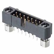M80-5T10642ME - 3+3 Pos. Male DIL Vertical Throughboard Conn. 101Lok