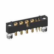 M80-5T20405M3-04-332-00-000 - 4+4 Pos. Male Signal+Power Vertical Throughboard Conn. Jackscrews