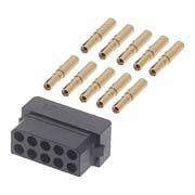 M80-6131045 - 5+5 Pos. Female DIL 22AWG Cable Conn. Kit, for Latches
