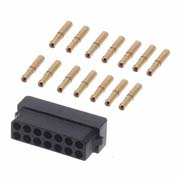 M80-6131445 - 7+7 Pos. Female DIL 22AWG Cable Conn. Kit, for Latches