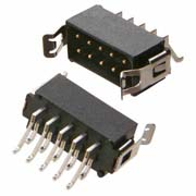 M80-6660445 - 2+2 Pos. Male DIL Horizontal SMT Conn. Latches