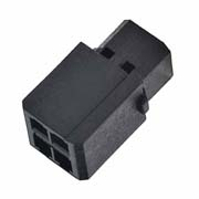 M80-6910498 - 2+2 Pos. Female DIL Cable Housing, for Latches