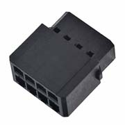 M80-6910898 - 4+4 Pos. Female DIL Cable Housing, for Latches