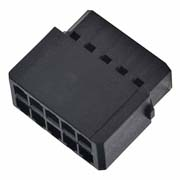 M80-6911098 - 5+5 Pos. Female DIL Cable Housing, for Latches