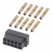 M80-8441045 - 5+5 Pos. Female DIL 24-28AWG Cable Conn. Kit, for Latches