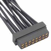 M80-8881601 - 8+8 Pos. Female DIL 24-28AWG Cable Conn. Kit, for Latches